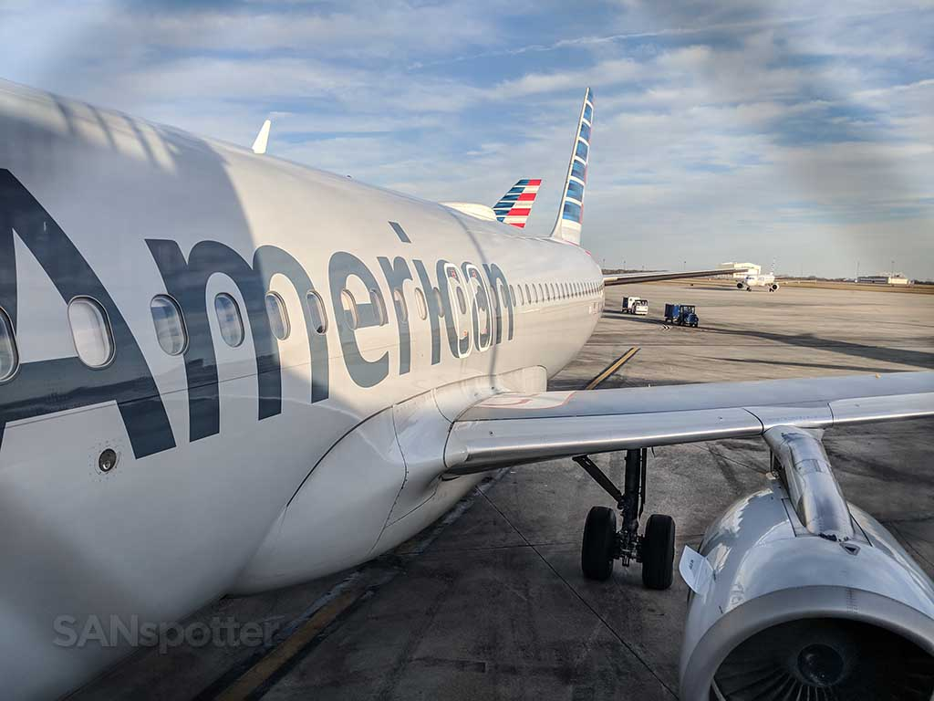 American Airlines a320 at gate