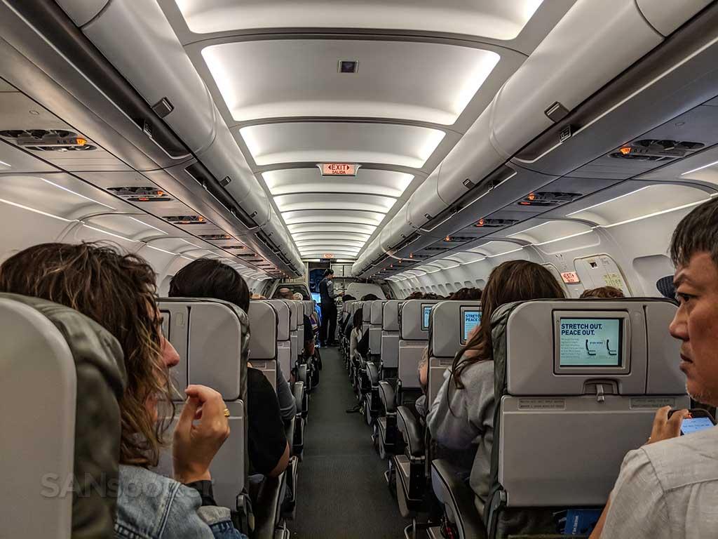 JetBlue main cabin seating