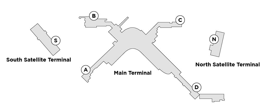 Seattle airport map