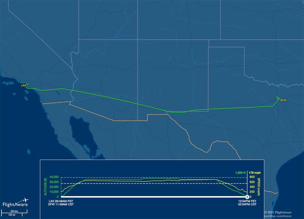 AA1974 flight track