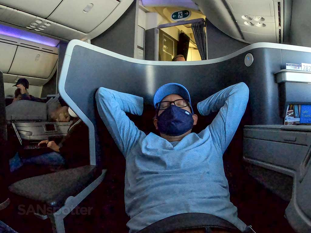 AA 787-9 business class seat comfort
