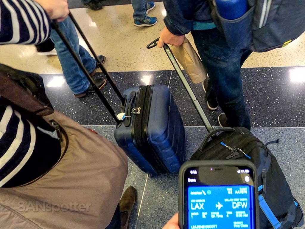 Flight boarding queue LAX