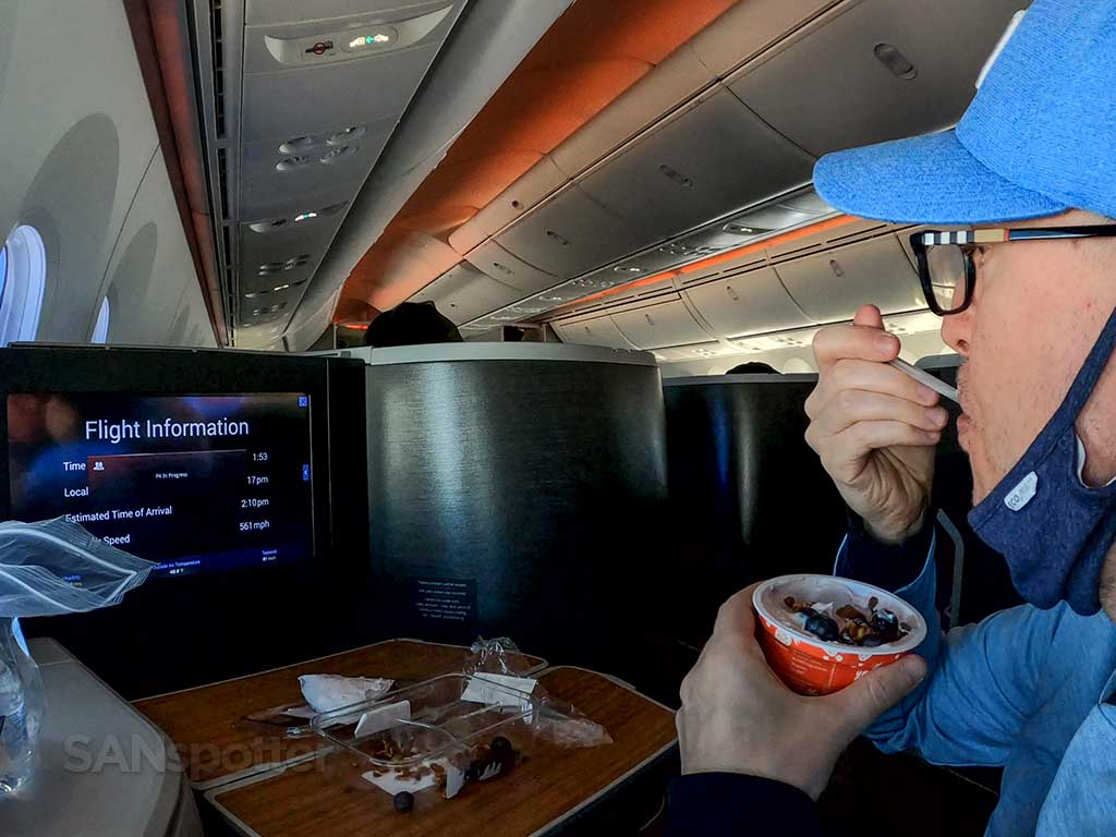 American Airlines breakfast service
