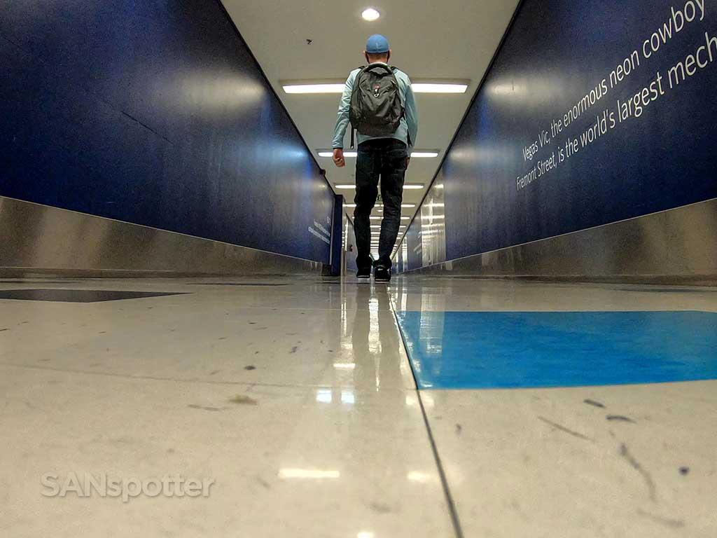 SANspotter selfie LAX underground tunnel