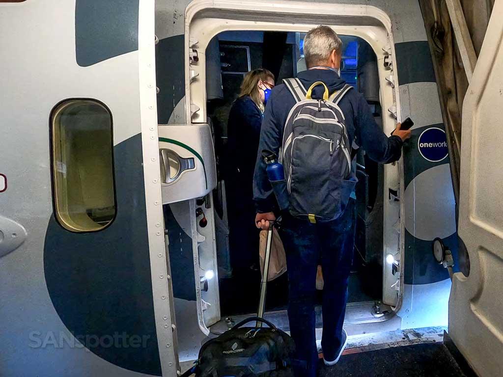 American Airlines 787-9 boarding door