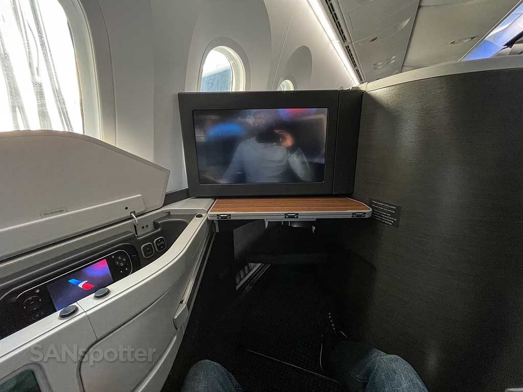 American Airlines 787-9 business class seat looking forward