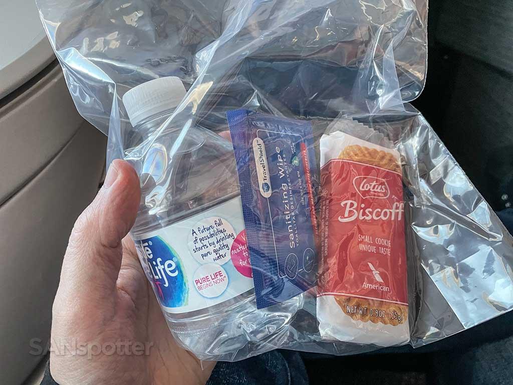American Airlines pandemic snack bag