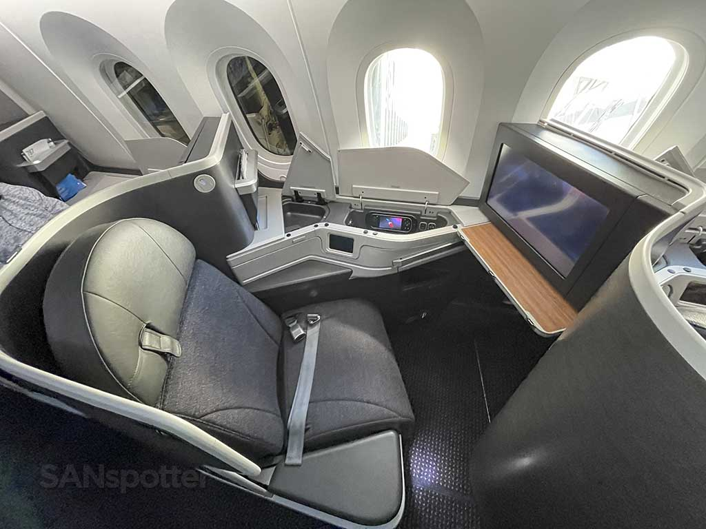 American Airlines long haul business class seat