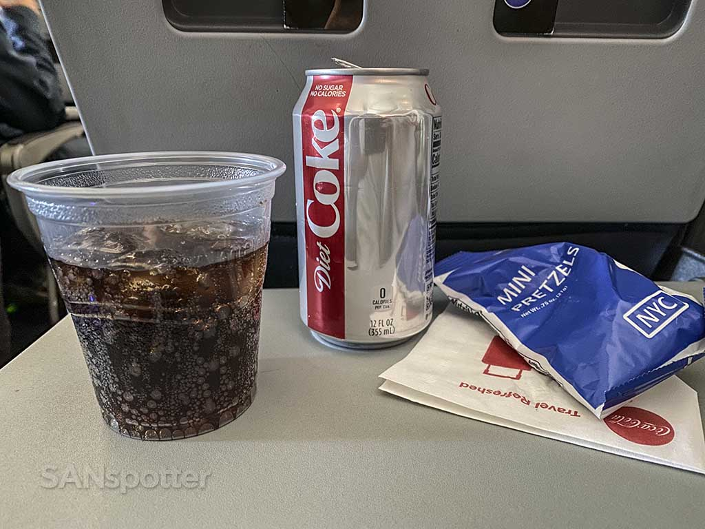 American Airlines economy class snack
