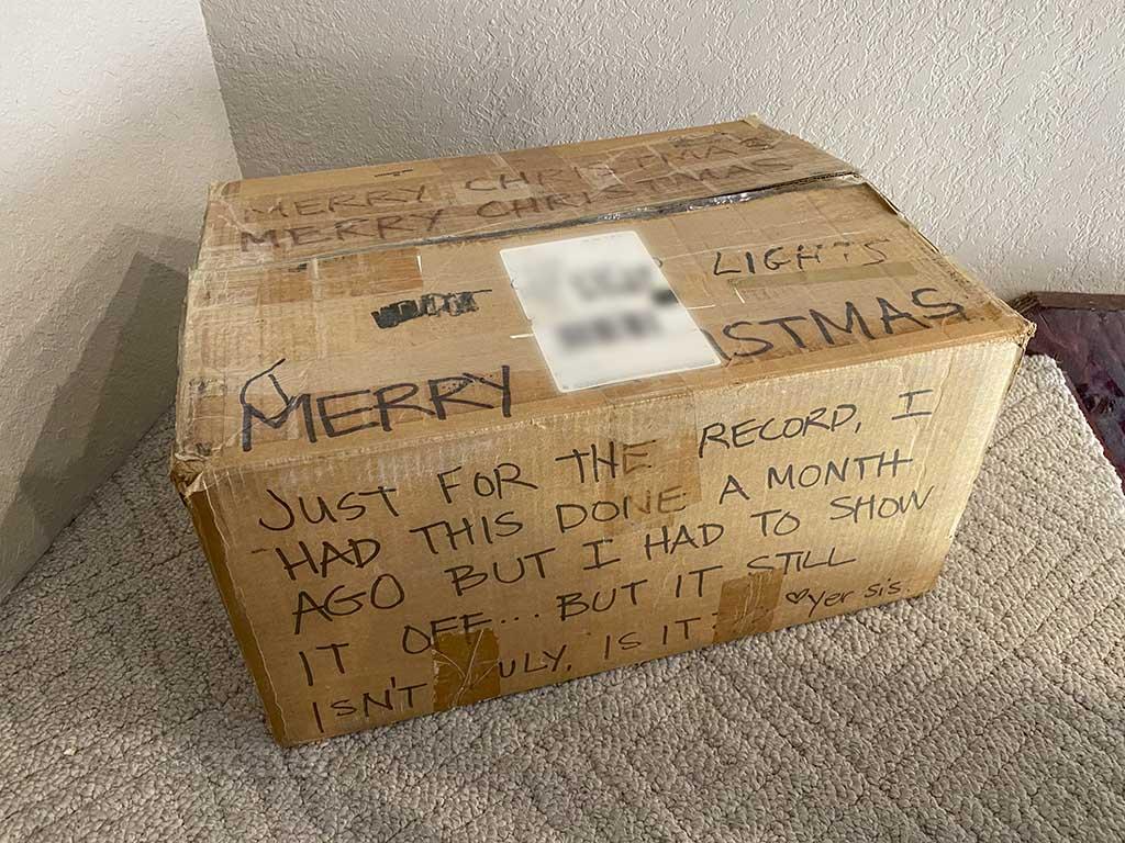checked box as luggage