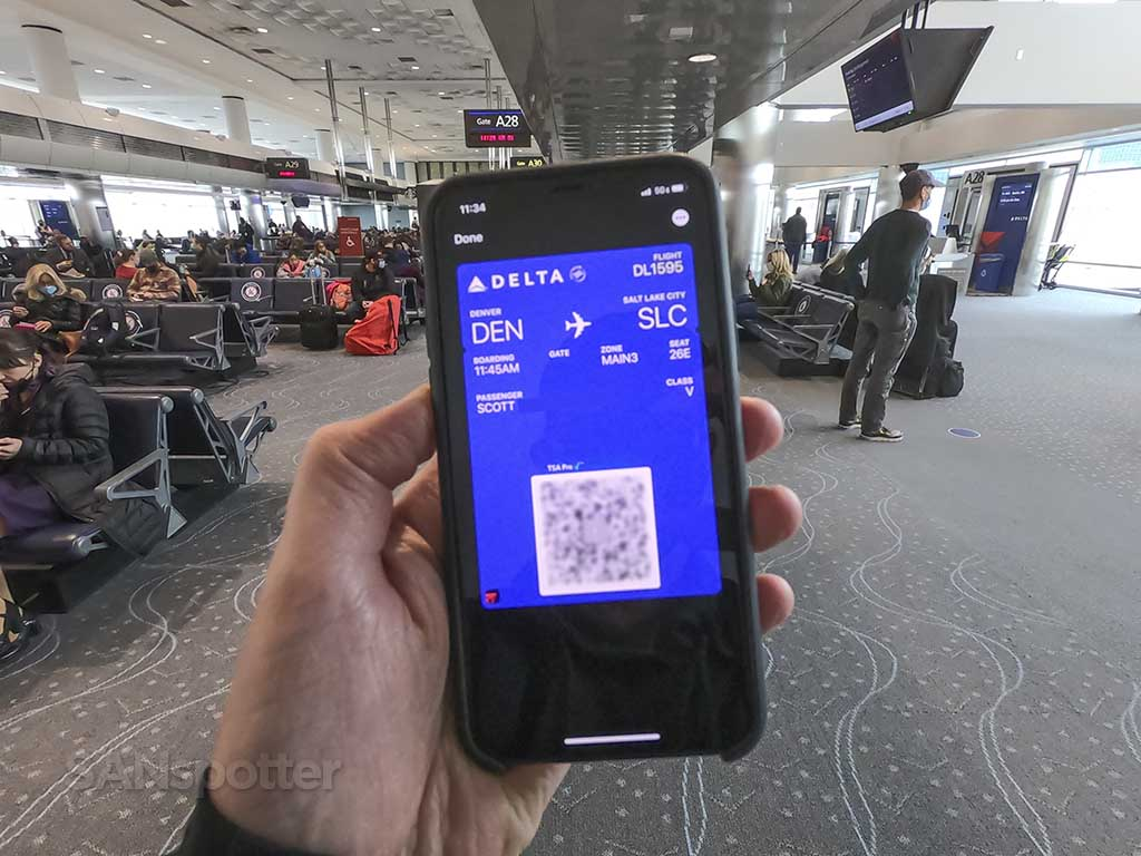 Delta air lines mobile boarding pass Denver airport