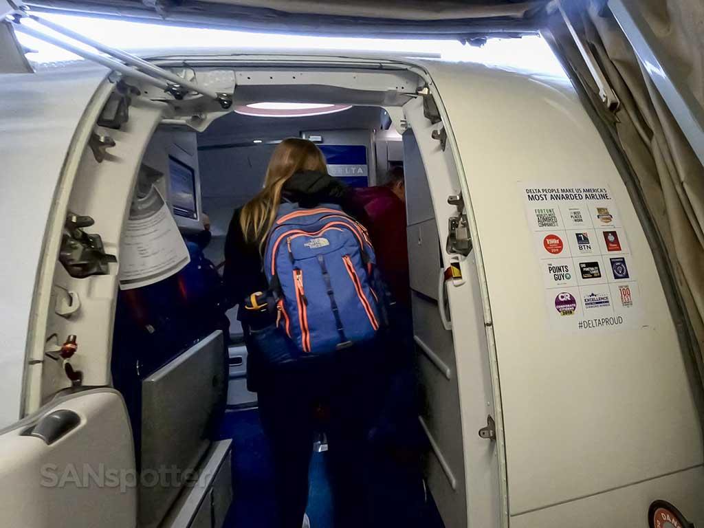 Delta Air Lines A220-300 boarding door