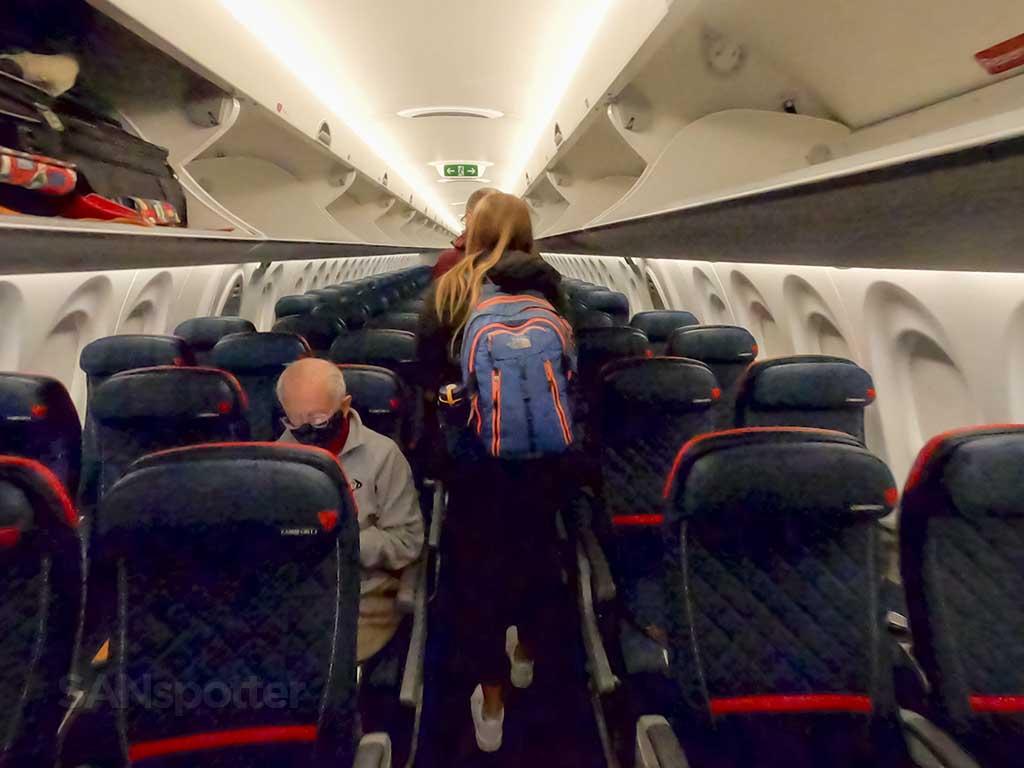 Delta A220 economy cabin