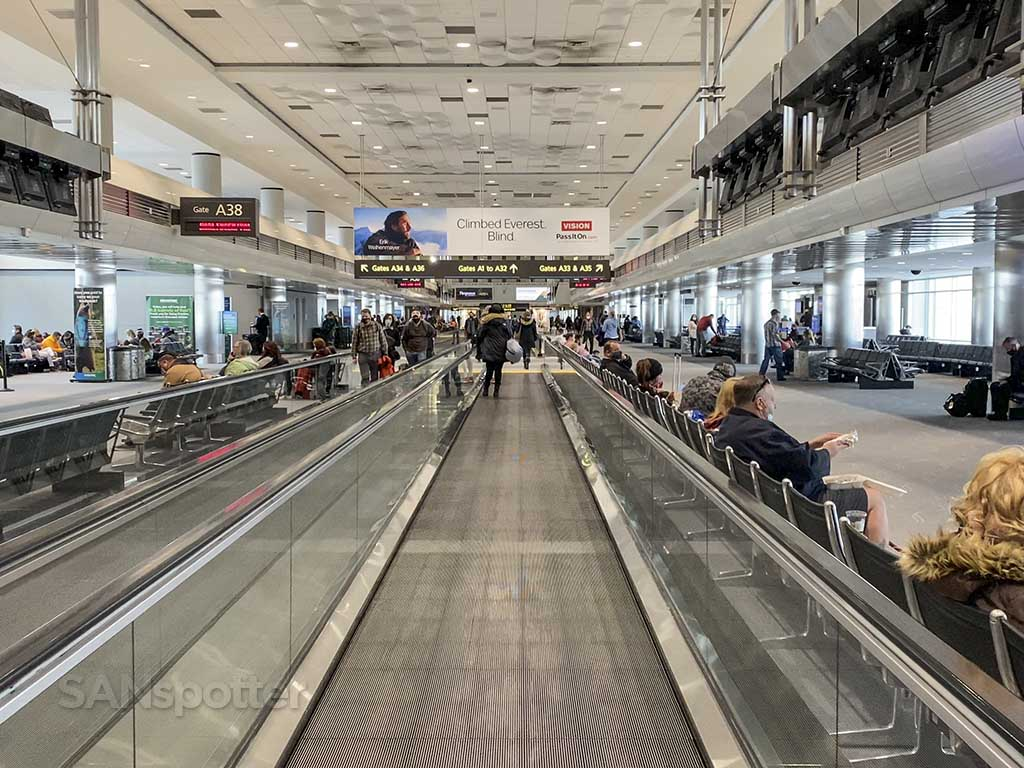 Denver airport terminal inside