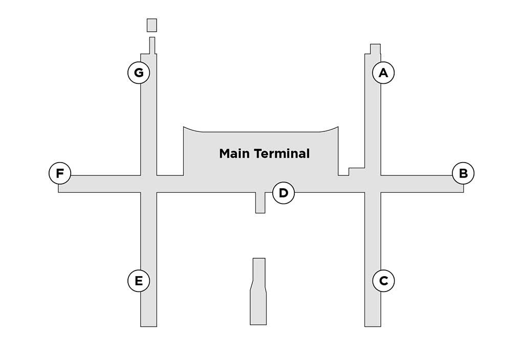 BKK terminal map