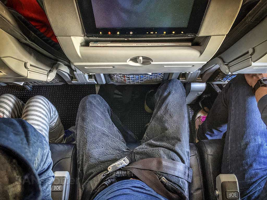 American Airlines economy class seats