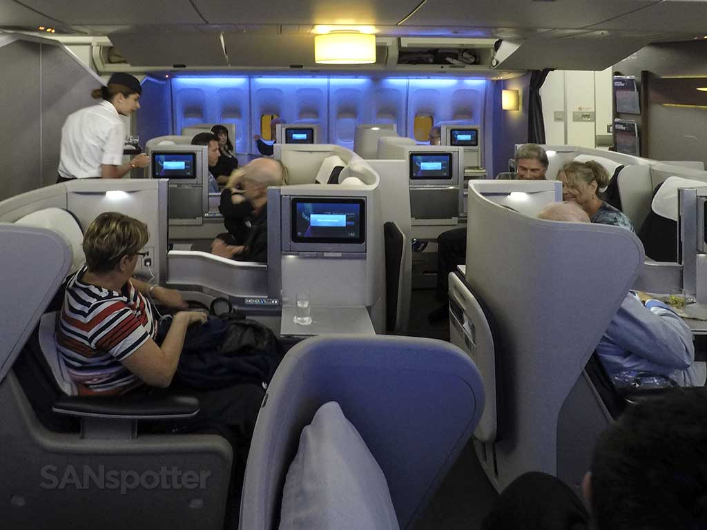 British Airways Club World business class