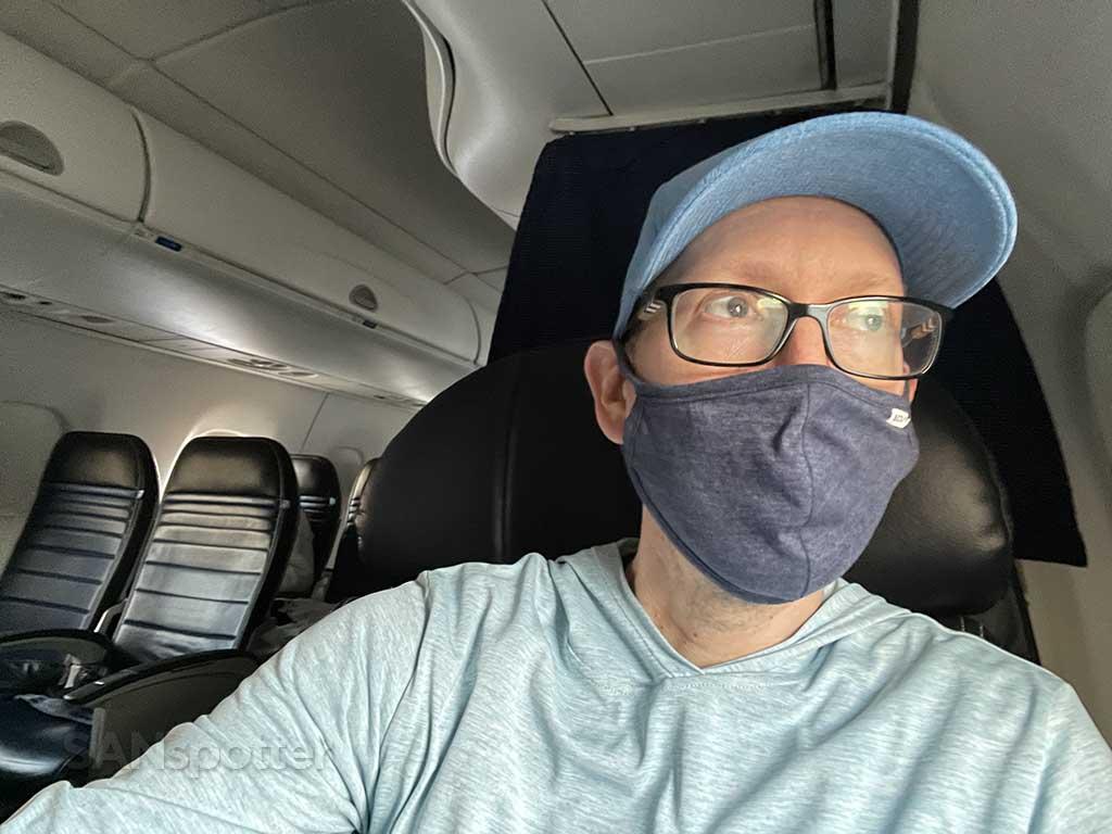 SANspotter selfie empty airplane