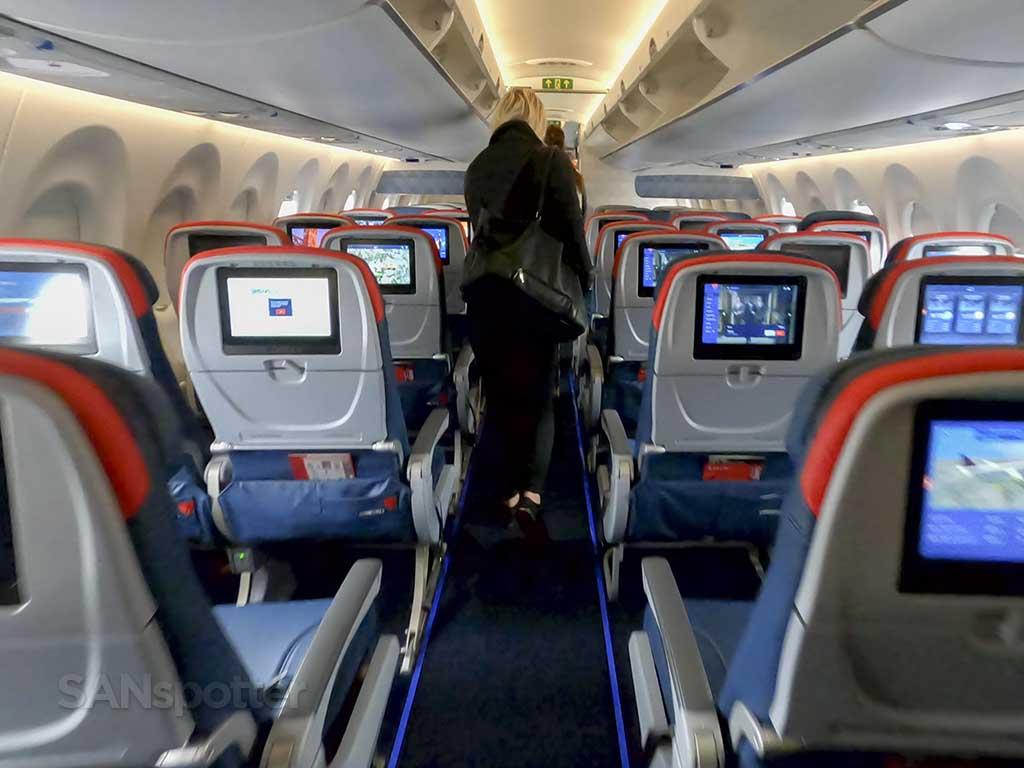 Delta A220 seat backs