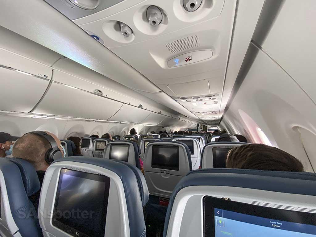 Delta A220 economy class cabin