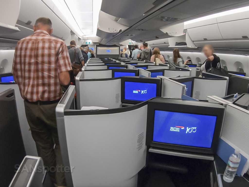 British Airways business class cabin