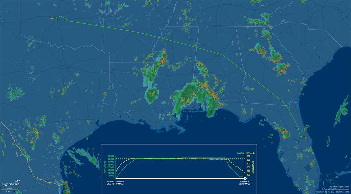 G42369 flight track