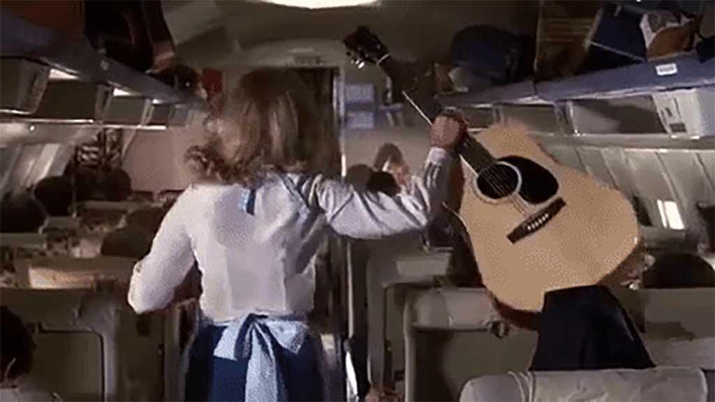 airplane movie guitar