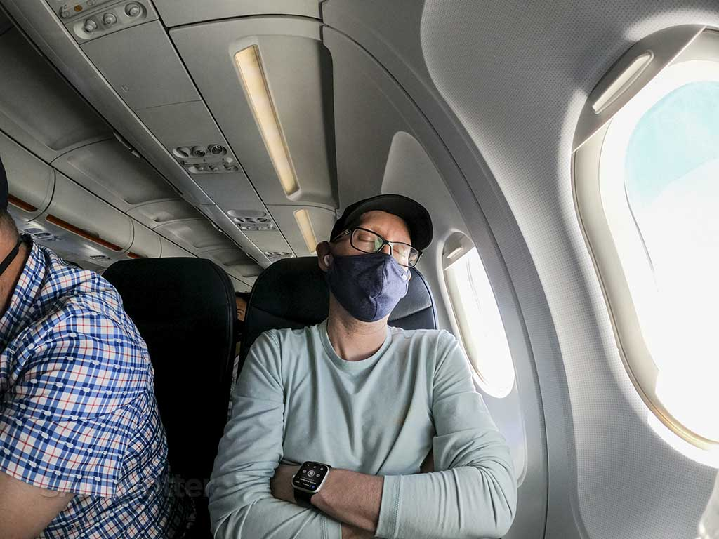 SANspotter allegiant air seat