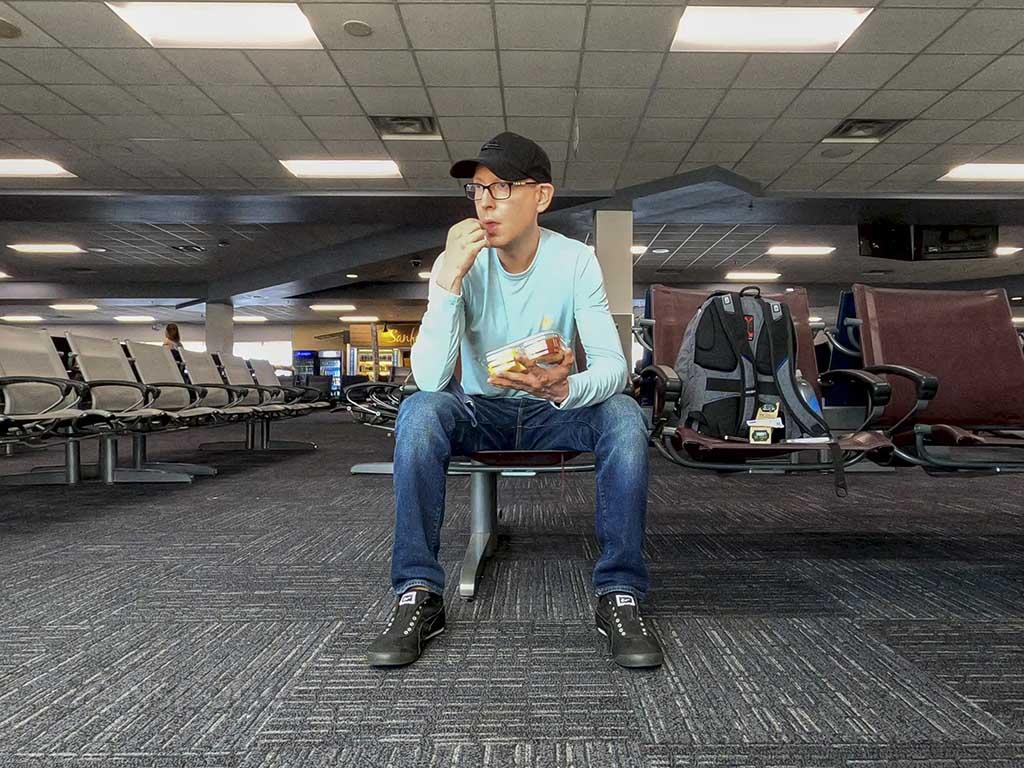 SANspotter selfie Sanford Airport