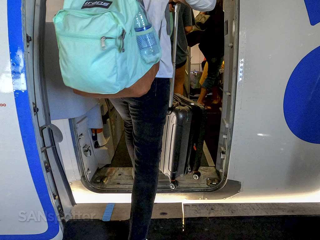 Allegiant air A319 boarding door