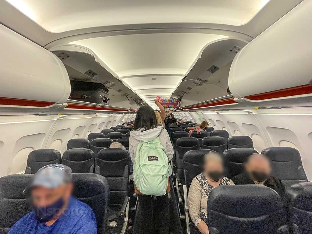 Allegiant Air A319 interior