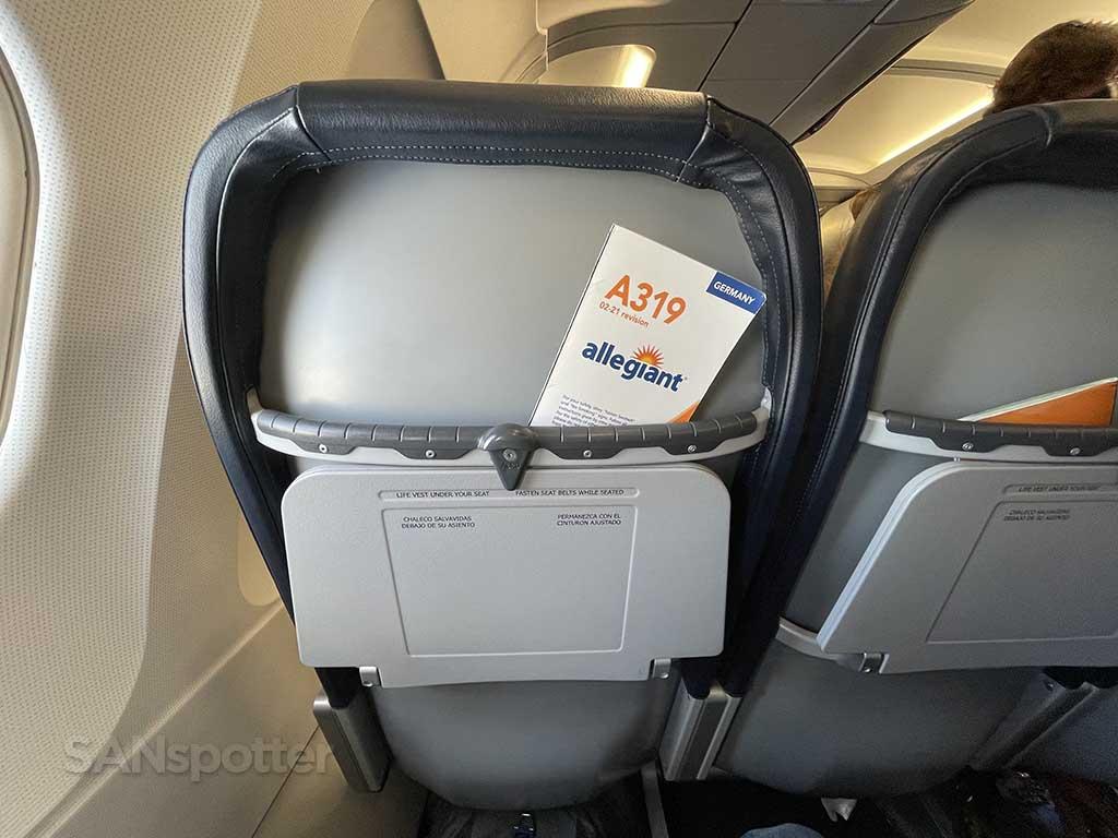Allegiant Air seats