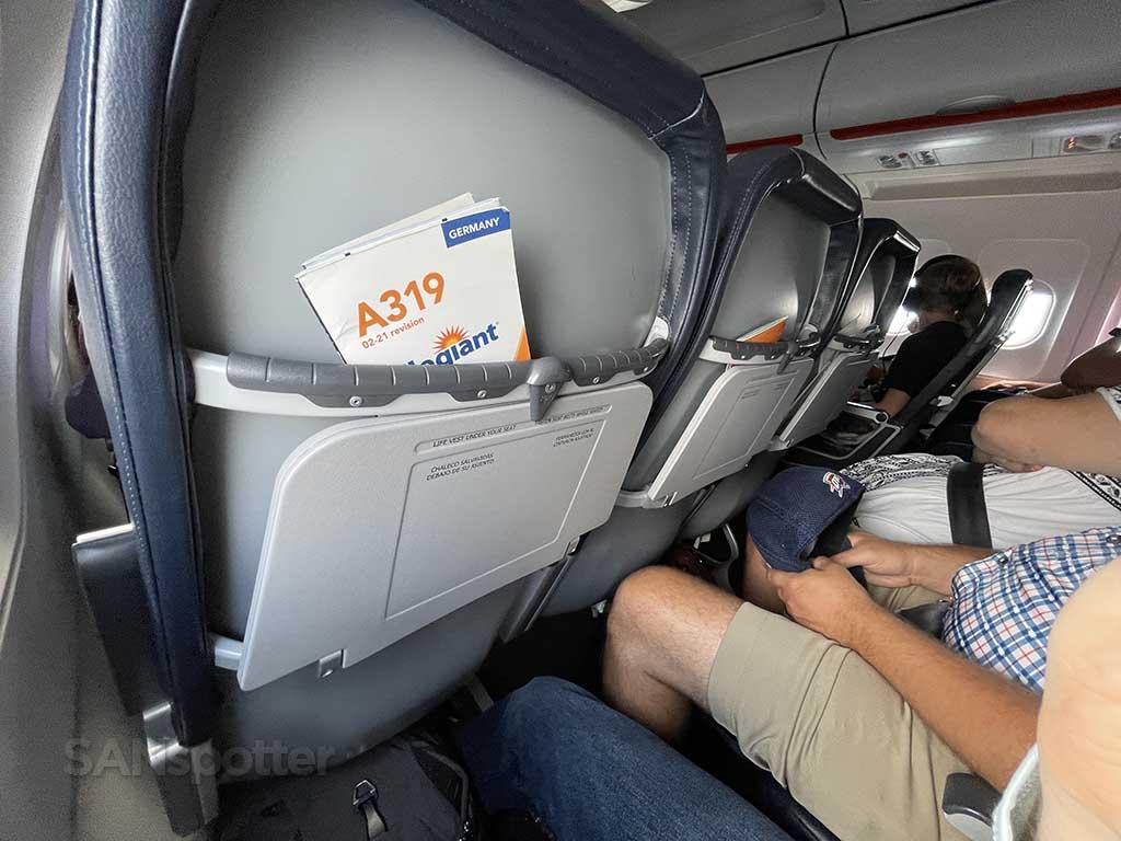 Allegiant Air extra leg room seats