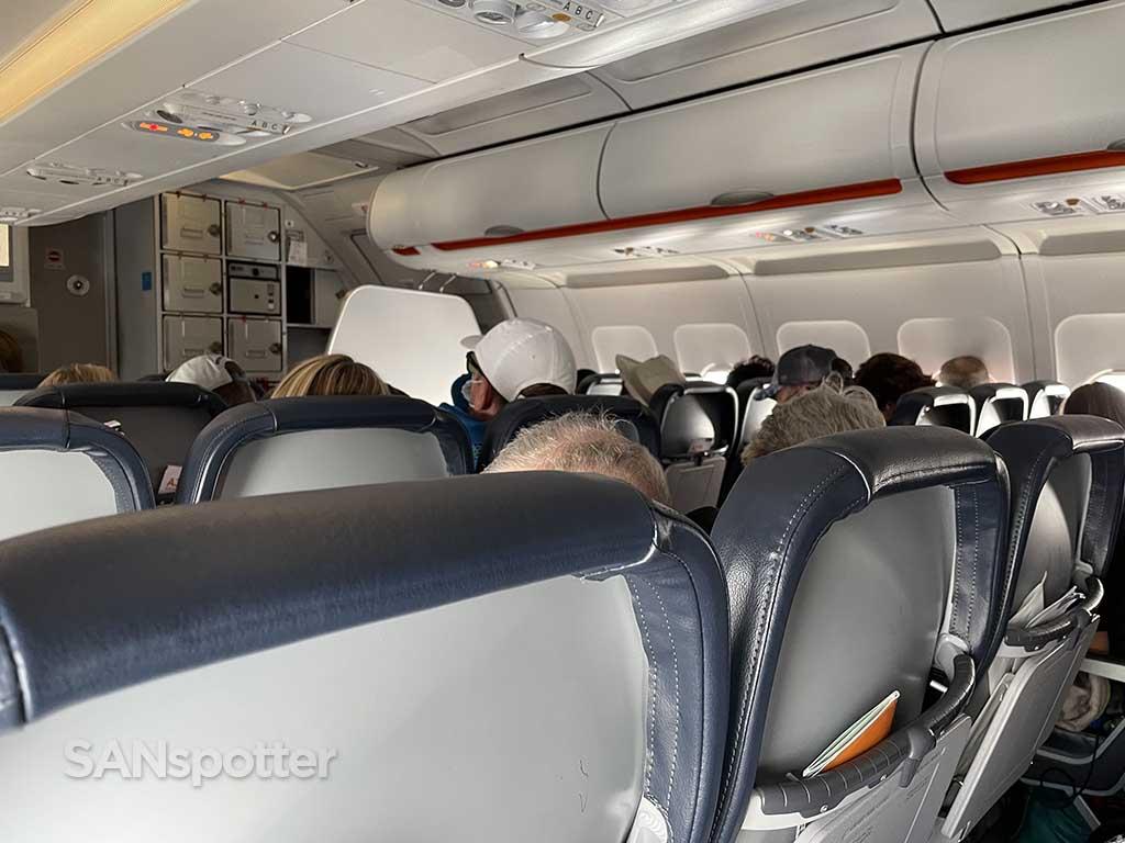 Allegiant Air A319 forward cabin