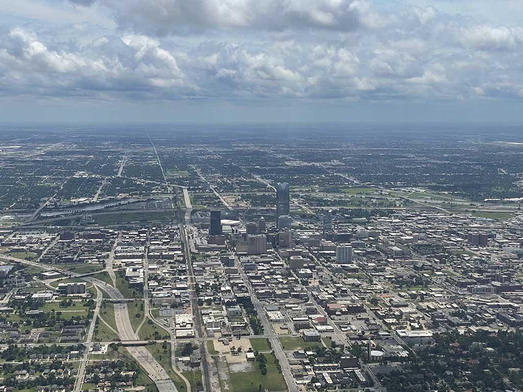 Overflying Oklahoma City