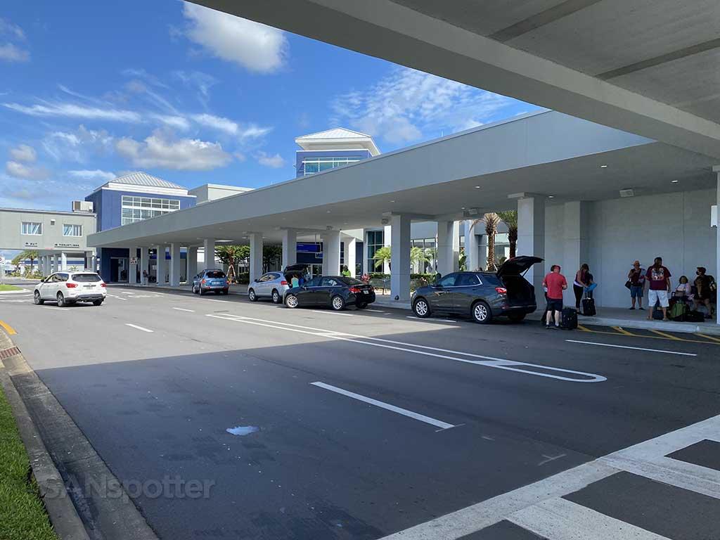 Sanford airport terminal curbside