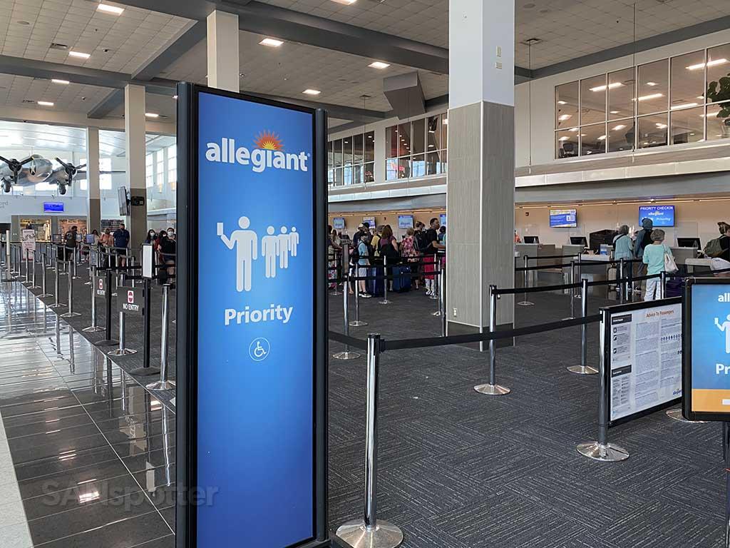 Allegiant Air priority check in