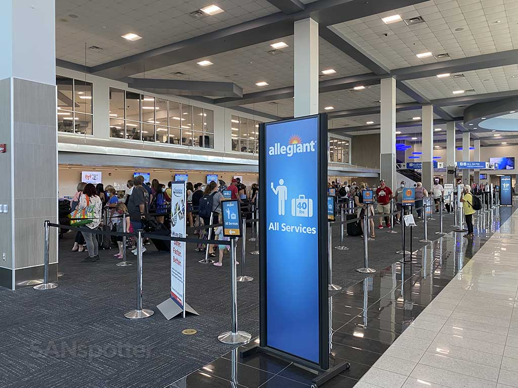 Allegiant Air check in Sanford Airport