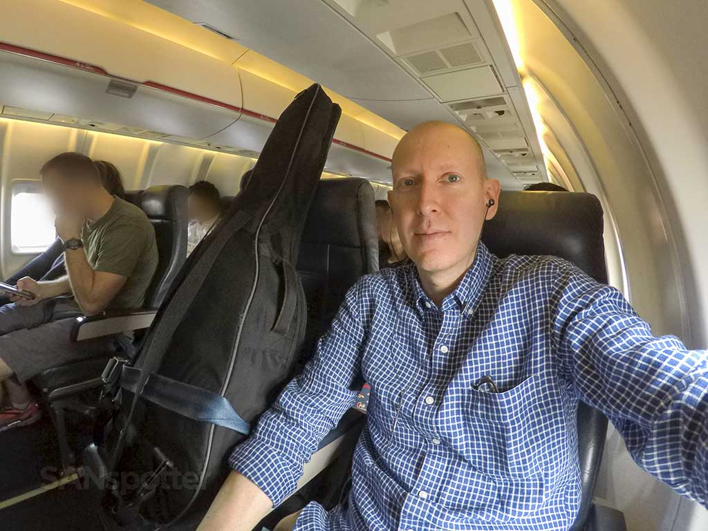 Flying with a guitar on a regional jet