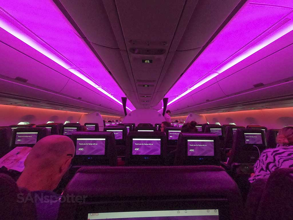 Virgin Atlantic A350 interior