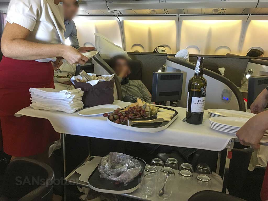 Virgin Atlantic upper class food service