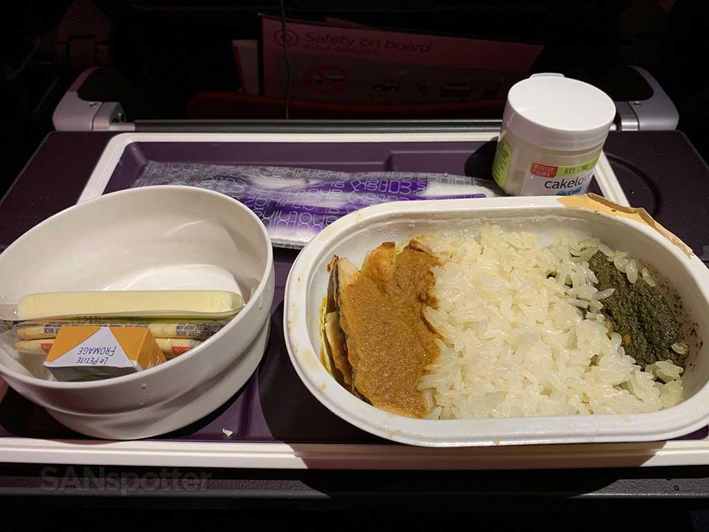 Virgin Atlantic economy class food