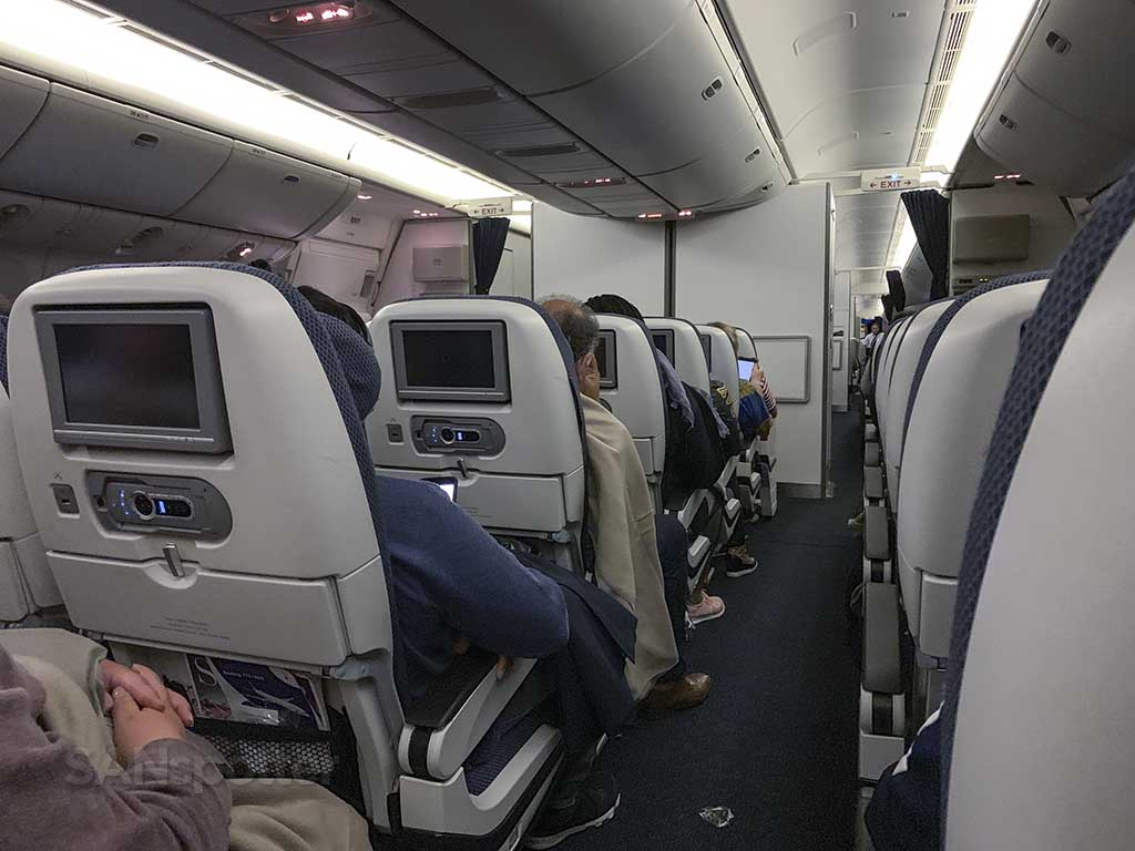 British Airways long haul economy class seats