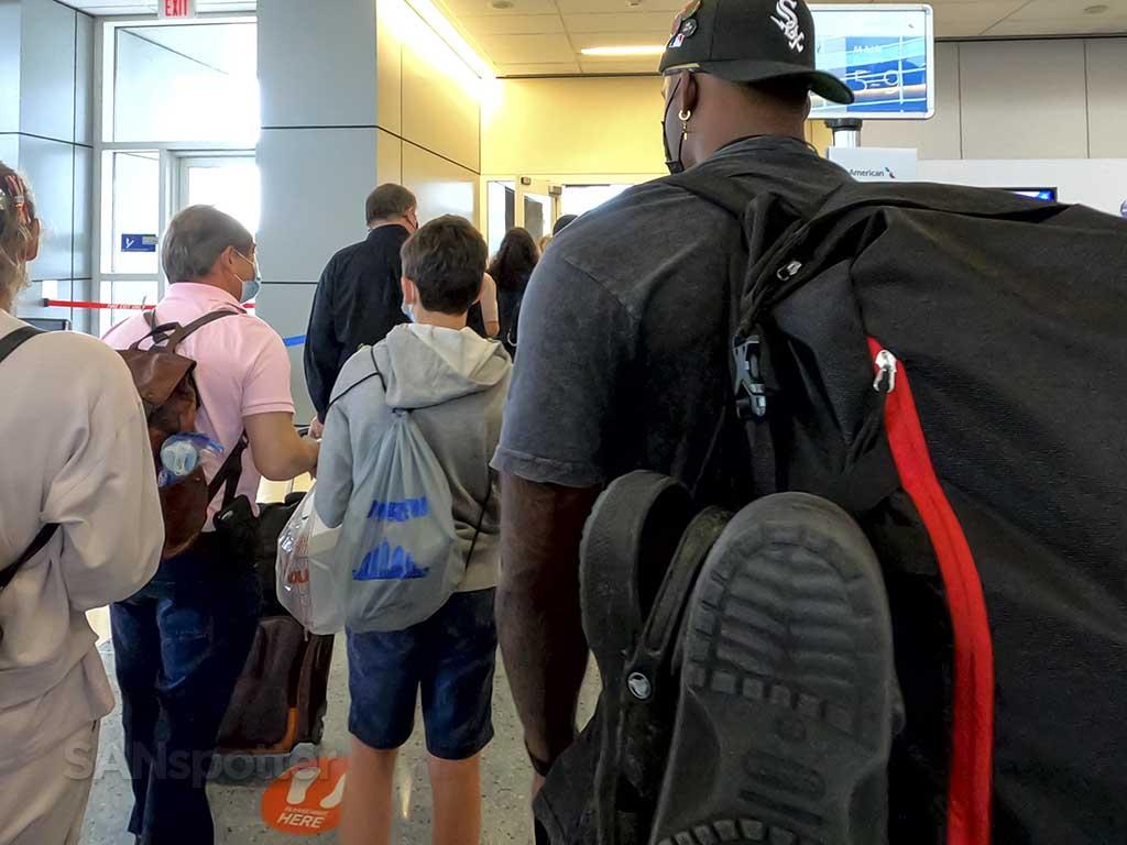 Airport boarding queue