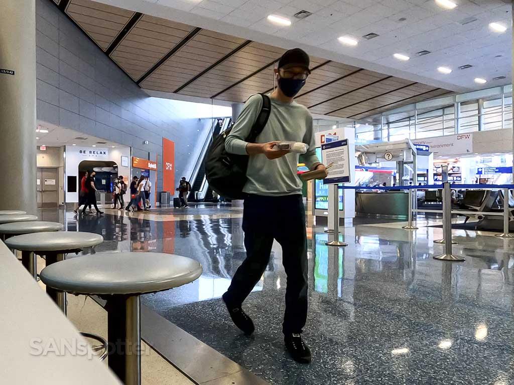 SANspotter selfie DFW terminal D