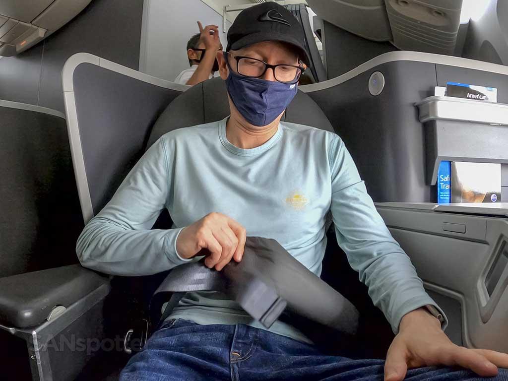 SANspotter American Airlines seatbelt