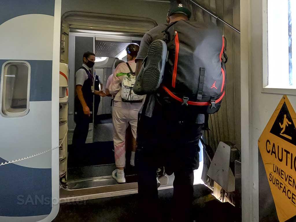 American Airlines 777-200 boarding door