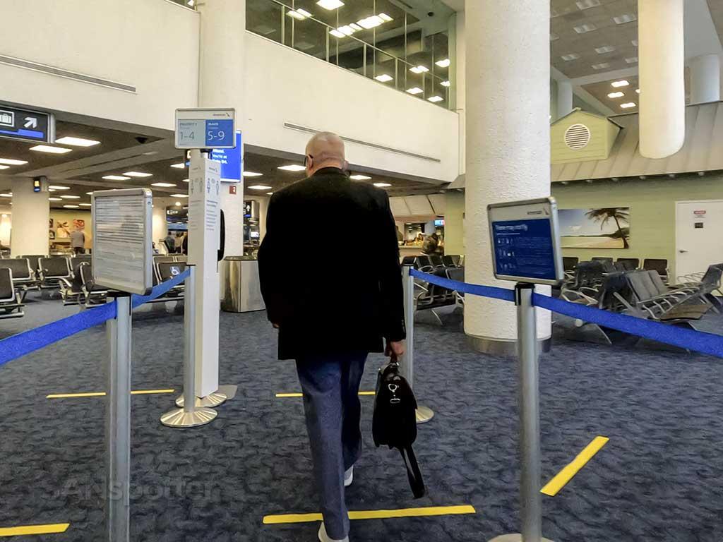 Walking into Miami airport terminal