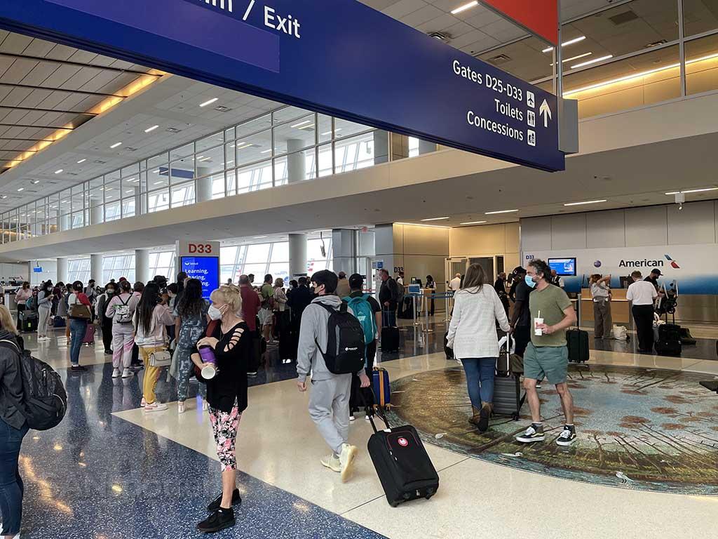 Gate D33 DFW airport