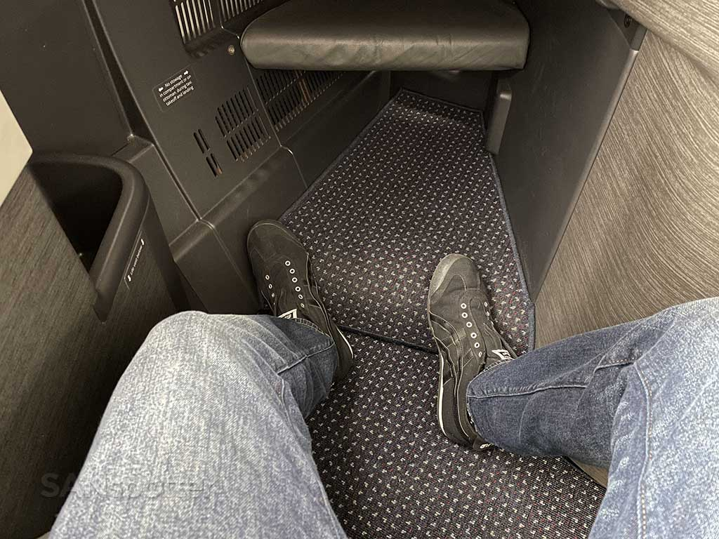 American Airlines 777-200 business class leg room